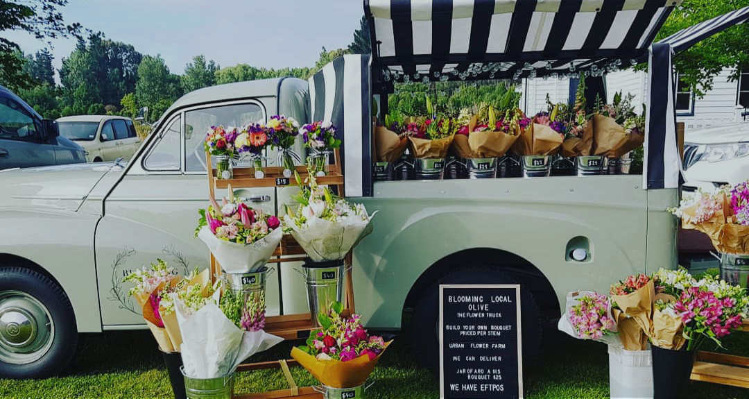Exterior of Olive, the Blooming Local Flower Truck