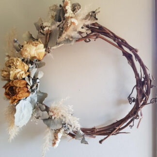dried flower wreath for sale